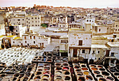 Tanners square, dying area. Fes. Morocco