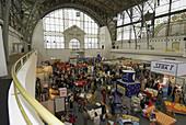 Prague, Holosovice, old fairground, old exhibition center, art nouveau, iron-glass construction, Czech Republic