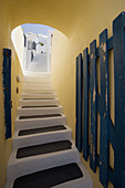 Alley, Alleys, Color, Colour, Concept, Concepts, Daytime, Detail, Details, Exterior, Lane, Lanes, Nobody, Outdoor, Outdoors, Outside, Shadow, Shadows, Stairs, Step, Steps, Wall, Walls, S06-538319, agefotostock