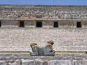 Jaguar and the Governors Palace. Uxmal, Yucatan.