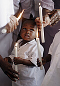 Boy in a religious ceremony. Mozambique.