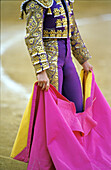 Anonymous, Bullfight, Bullfighter, Bullfighter costume, Bullfighter costumes, Bullfighters, Bullfighting, Color, Colour, Contemporary, Daytime, Exterior, One, One person, Outdoor, Outdoors, Outside, Single person, S73-489105, agefotostock