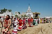 Romería (pilgrimage) to El Rocío. Huelva province, Spain