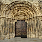 Romanesque architecture. Estella. Lizarra. Navarra. Spain.