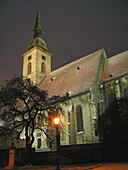 Architecture, Building, Buildings, Church, Churches, Color, Colour, Exterior, Illuminated, Illumination, Night, Nighttime, Outdoor, Outdoors, Outside, World locations, S95-503075, agefotostock