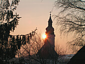 Architecture, Back-light, Backlight, Bell tower, Bell towers, Beyond, Church, Churches, Color, Colour, Daytime, Exterior, Light, Outdoor, Outdoors, Outside, Silence, Silhouette, Silhouettes, Spiritual, Spirituality, Sun, Sunset, Sunsets, Tower, Towers, Tr