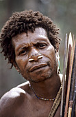 Portrait of a Koroways hunter, Western Papuasia, Former Irian-Jaya, Indonesia