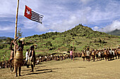Independance demonstration of Yalis tribes in August 2000, Western Papuasia, Former Irian-Jaya, Indonesia
