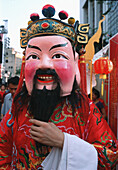 Asia, Celebrate, Celebrating, Celebration, Celebrations, Color, Colour, Costume, Costumes, Daytime, Disguise, Disguises, Exterior, Fancy dress, Festival, Festivals, Folk, Folklore, Head, Heads, Holiday, Holidays, Male, Man, Mask, Masks, Men, Outdoor, Outd