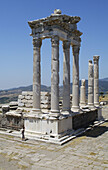 Ancient, Ancient history, Antiquity, Archaeology, Architecture, Art, Arts, Asia, Bergama, Building, Buildings, Classical, Color, Colour, Column, Columns, Daytime, Exterior, Historic, Historical, History, Incomplete, Outdoor, Outdoors, Outside, Pergamon, P
