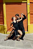 Tango. Caminito street, La Boca district. Buenos Aires. Argentina