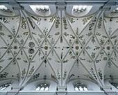 Ceiling fresco Heavenly Garden. St. Michael church, Bamberg, Bavaria, Germany