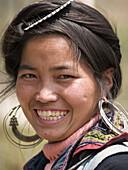 Black Hmong woman with a big smile. Lao Chai village, Sapa, Vietnam (april 2006)