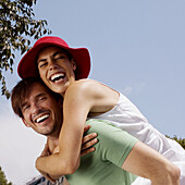 ary, Couple, Couples, Daytime, Embrace, Embracing, Exterior, Facial expression, Facial expressions, F