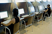 y, Cybercafe, Cybercafes, E mail, Focus, Focused, Human, Indoor, Indoors, Interior, Internet, Interne