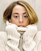 Covering face, Face, Faces, Facial expression, Facial expressions, Facing camera, Fair-haired, Femal