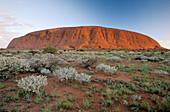 Australia, Uluru National Park. Uluru or Ayers Rock at first day of new milenium 1 jan, 2000