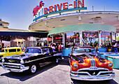 mels drive in restaurant antique cars universal studios florida