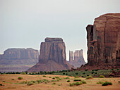 Butte Mittens Monument Valley National Tribal Park Navajo Nation Arizona United States Rock Formations Sand Red Dunes Shrub Desert Southwestern  Limestone Wind Erosion Four Corners North America Park Siltstone Iron Oxide