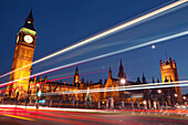 Architecture, Big Ben, Bridge, Bridges, Building, Buildings, Cities, City, Cityscape, Cityscapes, Color, Colour, England, Europe, Exterior, Great Britain, Houses of Parliament, Landmark, Landmarks, Lights, London, Night, Nighttime, Outdoor, Outdoors, Outs