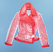 Bubble, Bubble jacket, Bubble Wrap, Bubbles, Close up, Close-up, Closeup, Clothing, Color, Colour, Concept, Concepts, Design, Designing, Detail, Details, Fashion, Female, Garment, Garments, Hanger, Hangers, Indoor, Indoors, Interior, Jacket, Jackets, One,