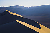 Unusual formations of the shifting sands at Eureka Dunes in Death Valley national Park, California. USA.