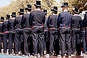 September 11th, Catalan National Holiday: Mossos dEsquadra (Catalan police) in full-dress uniform. Barcelona, Catalonia