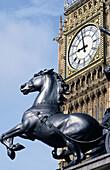 Big Ben and Queen Boadicea statue. London. England