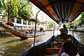 Klong tour along the river by boat, Bangkok, Thailand