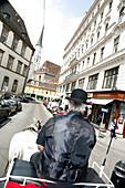 Horse and carriage, Stallberggasse, Vienna, Austria