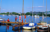 Europe, Germany, Hamburg, people enjoying their free time at the Alster