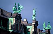 Europe, Germany, Hamburg, gable of the Globushof