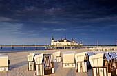 Europe, Germany, Mecklenburg-Western Pomerania, isle of Usedom, Seaside resort Ahlbeck, pier