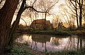 Old farmhouse near Niedernjesa, Friedland, Lower Saxony, Germany
