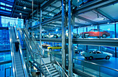 Europe, Germany, Lower Saxony, Wolfsburg, Autostadt Wolfsburg, ZeitHaus, displays automobile classics