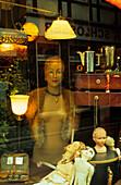 Europe, Germany, Lower Saxony, Göttingen, shop window of an antique shop