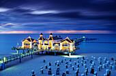 Europe, Germany, Mecklenburg-Western Pomerania, isle of Rügen, sellin Seaside Resort, view of the Seebrücke