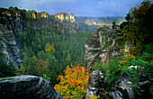 Europe, Germany, Saxony, Elbe Sandstone Mountains, Saxon Switzerland, Felsenburg Neurathen