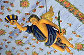 Europe, Germany, Mecklenburg-Western Pomerania, isle of Hiddensee, Kloster, Baptismal angel in the Inselkirche