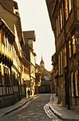 Alley through old town, Quedlinburg, Saxony-Anhalt, Germany