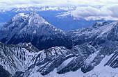 Zugspitze, Bavarian foothills of the Alps, Upper Bavaria, Bavaria, Germany
