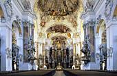 Basilica St. Alexander and St. Theodor, Ottobeuren Abbey, Ottobeuren, Bavaria, Germany