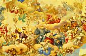 Europe, Germany, Baden-Württemberg, Neresheim, Neresheim Abbey, fresco on the ceiling