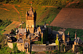 Europe, Germany, Rhineland-Palatinate, Cochem, Reichsburg Cochem in the valley of the Moselle river