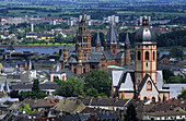 Mainz Cathedral of St. Martin and Church of St. Stephan, Mainz, Rhineland-Palatinate, Germany