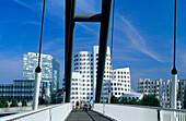 Europe, Germany, North Rhine-Westphalia, Düsseldorf, Neuer Zollhof, [Architect Frank O. Gehry]