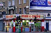 Europe, Great Britain, England, London, Camden, Camden Lock, Fish 'n Chips Shop