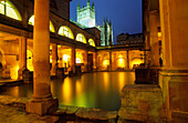 Europe, Great Britain, England, Avon, Bath, roman bath