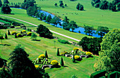 Europe, Great Britain, England, Derbyshire, Chatsworth, Bakewell, garden at Chatsworth House