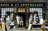 Europe, England, Yorkshire, West Yorkshire, Haworth, Rose & Co Apothecary, Bronte County